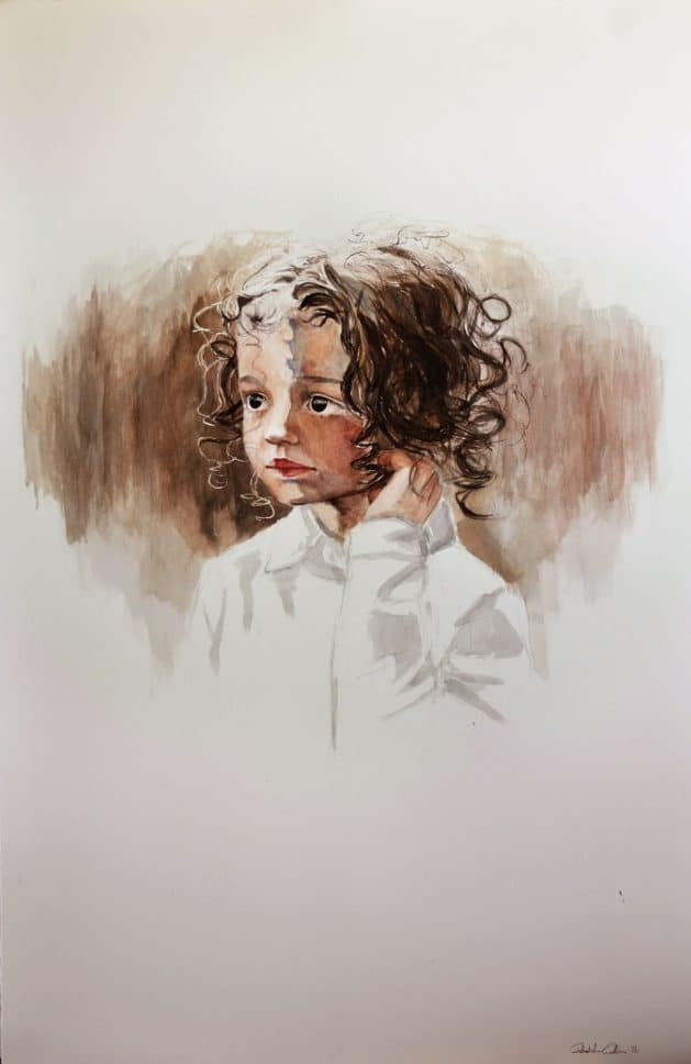 Madeline 2 - 900x580mm Watercolour $2500 framed